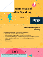 Fundamentals of Public Speaking