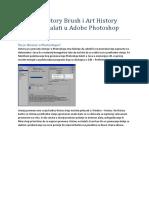 History Brush i Art History Brush Tool alati u Adobe Photoshop CS5