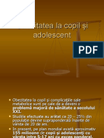 Obezitatea la copil -i adolescent power point