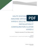 5 - Installation et configuration cluster Hyper-v