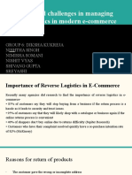Strategies and challenges in managing reverse logistics in modern e-commerce supply chain