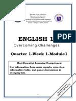 ENGLISH 10_Q1_Mod1_Overcoming Challenges