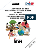 PHILO_Q1_Mod3_The Human Person as an Embodied Spirit