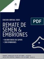 Semen & Embriones LAS TALAS 2020