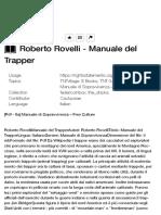 Roberto Rovelli - Manuale del Trapper