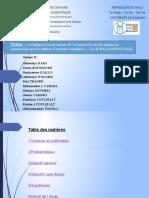 ThèmeAvantages et inconvénients de l'assistance fiscale des entreprises commerciales par les cabinets d'expertise comptable Cas de MALI-NEGOCE SARL