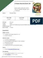 Garlic & Herb Sweet Potato Nourish Bowl (30 Minutes!) - Minimalist Baker