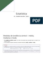 03 - Estatística Descritiva - Parte 2