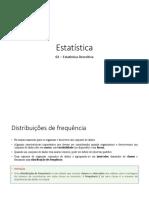 02 – Estatística Descritiva - Parte 1