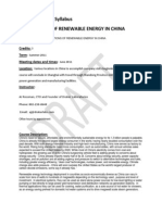 Appl of Renew Energy in China - CDAE 295 TR1 - Course Syllabus or Other Course-Related Document