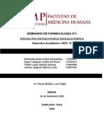 SEMINARIO DE FARMACOLOGIA Nº1