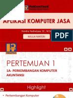 1a- Perkembangan Komputer Akuntansi
