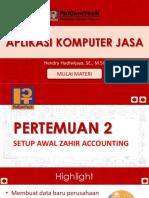 2 Setup Awal Zahir Accounting