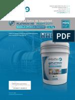 HDS Globalflex Línea Platinum 2112 Masilla Epóxica Caucho 2,6Kg