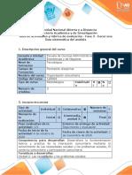 Guía de actividades y rúbrica evaluación - Fase 3 - Hacer una lista sistemática del análisis.doc