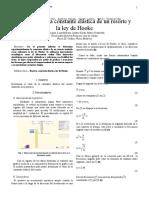 Lab 1. Constante Elastica de Un Resorte