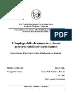 Tesi in Riabilitazione Psichiatrica - L'impiego della drammaterapia nei percorsi riabilitativi psichiatrici - Copy