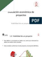 Evaluación económica de proyectos - 1.3 Viabilidad de un proyecto.pptx