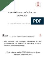 Evaluación económica de proyectos - 1.4 Valor del dinero en el tiempo.pptx