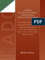 Castagnola - como evolucionan nuestras instituciones?