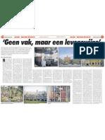 Geen vak, maar een levenswijze. Interview met Ds. Ben Hengeveld (AD 4 september 2010)