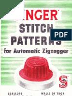 Singer Stitch Patterns for Auto Zigzagger