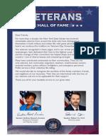 2020 VHOF-Honoring Our Veterans