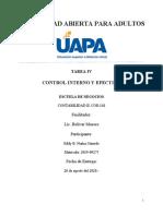 TAREA 4. CONTROL INTERNO Y EFECTIVO