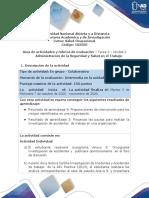 Guía de actividades y rúbrica de evaluación - Unidad 2 - Tarea 2 - Administración de la Seguridad y Salud en el Trabajo.pdf