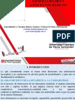 CLASE   GENERALIDADES Y CONCEPTOS BASICOS ESTADISTICA DESCRIPTIVA UFPS  2020 B