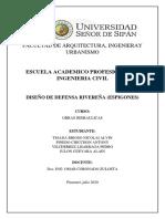 DISEÑO DE DEFENSA RIVEREÑA (ESPIGONES)