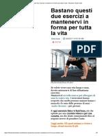 Bastano questi due esercizi a mantenervi in forma per tutta la vita – Business Insider Italia