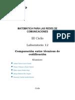 MAT-RC LAB 12 Comparación entre técnicas de codificación B