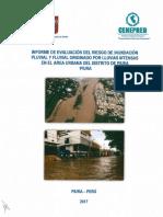 4023 Informe de Evaluacion Del Riesgo de Inundacion Pluvial y Fluvial Originado Por Lluvias Intensas en El Area Urbana Del Distrito de Piura Provincia y De