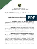 Recomendação 012 - HC Estadio Mane Garrincha - suspensao do pagamento