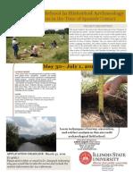 2011 Field School flyer