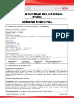 HOJA DE SEGURIDAD OXIGENO MEDICINAL