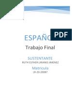 ESPAÑOL-TRABAJO FINAL -LR-20-20087