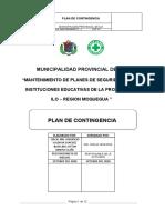 Plan de Contingencia ( Mantenimiento)