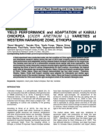 YIELD PERFORMANCE and ADAPTATION of KABULI CHICKPEA (CICER ARIETINUM L.) VARIETIES at WESTERN HARARGHE ZONE, ETHIOPIA.