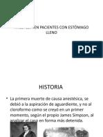 ANESTESIA EN PACIENTES CON ESTÓMAGO LLENO