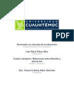Iván Darío Pérez Díaz_Actividad 1.1 Relaciones entre filosofía y educación