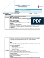 planeación ACTIVIDADES DE DIAGNÓSTICO español 1