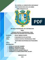CODIGOS DE ETICA PROFESIONAL PARA UADITORIAS DE INFORMACION FINACIERA.docx