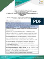 Fase 3 - Acción y Evaluación - Guía de ruta y avance  de ruta para la realimentación