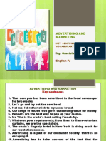 ADVERTISING AND MARKETING KEY SENTENCES