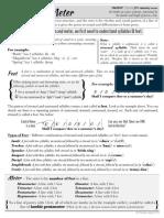 Poetry rhythm and meter worksheet