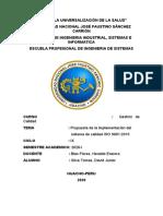 PROPUESTA DE LA IMPLEMENTACION ISO 9001-2015  CAP 8 - DAVID J. SILVA TOMAS