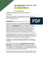 1 - FORMACIÓN CRÍTICA 3-2  - 1ra  ACTIVIDAD VIRTUAL - JULIO