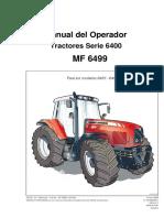 Manual del Operador Tractores MF 6499
